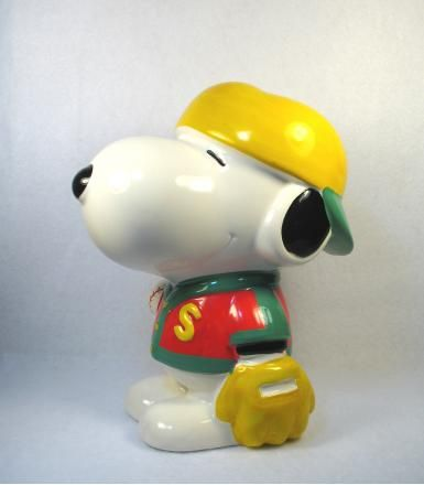 SNOOPY BASEBALL PLAYER bank