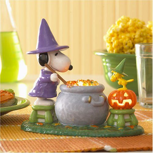 "Dept. 56 ""Snoopy's Special Brew"" Lighted Figurine (Pumpkin missing)"