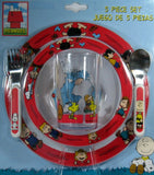 Peanuts Gang 5-Piece Dish and Utensils Set