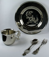 Snoopy Silver Plated Dinner Set