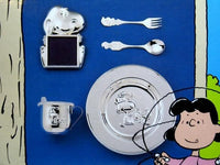 Snoopy Silver Plated Dinner Set + Picture Frame