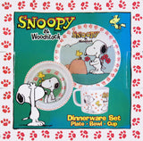 Snoopy and Woodstock 3-Piece Melamine Dish Set (NO BOX)