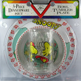 Snoopy and Woodstock 3-Piece Melamine Dish Set