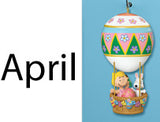 Danbury Mint Hot Air Balloon Calendar Ornament - April