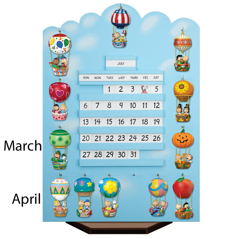 Danbury Mint Hot Air Balloon Calendar Ornament - March