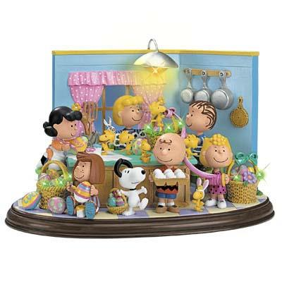 Danbury Mint Peanuts Lighted Easter Sculpture