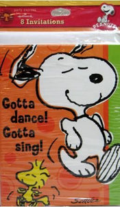 Dancing Snoopy Party Invitations