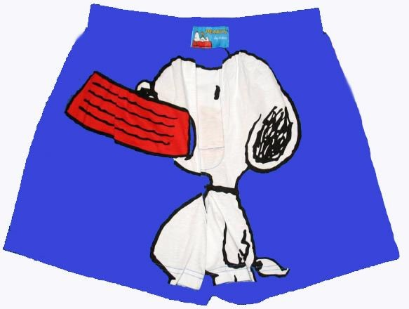 Snoopy Holding Dog Dish Boxers