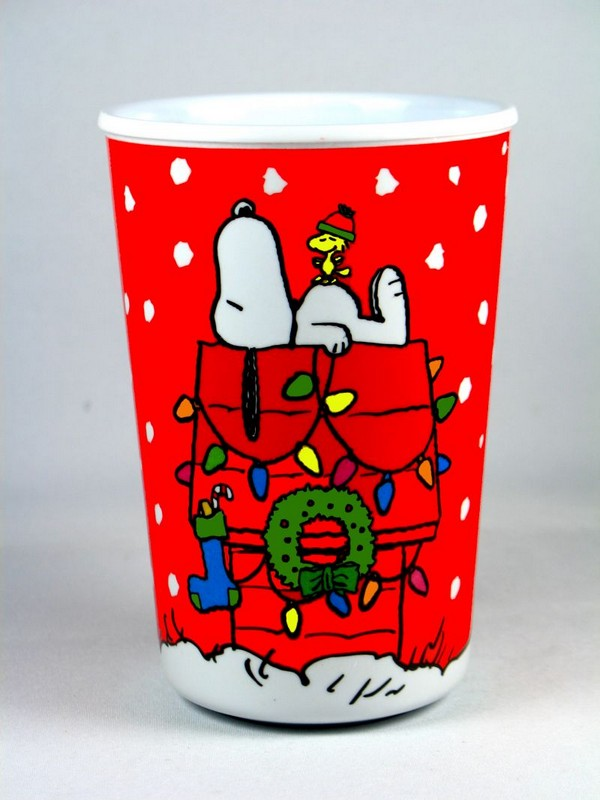 Decorated Doghouse Melamine Cup