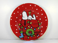 Snoopy Christmas Luncheon Plate - Decorated Doghouse