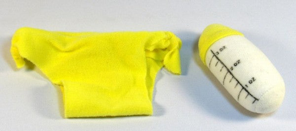 Baby Diaper and Bottle for Doll