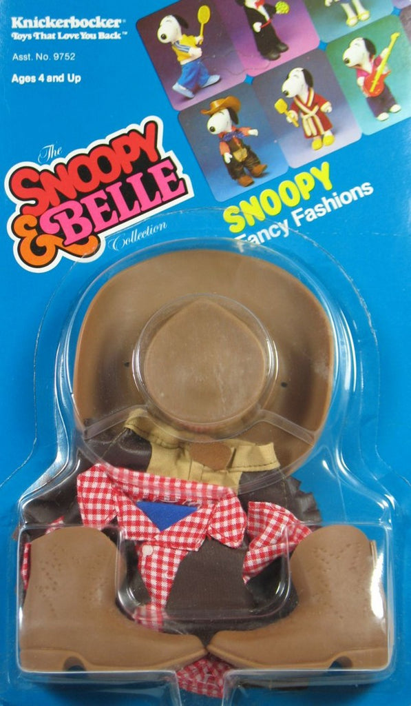 Snoopy Rubber Doll Clothing - Western