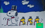 Top Hat Snoopy Holiday Door Mat