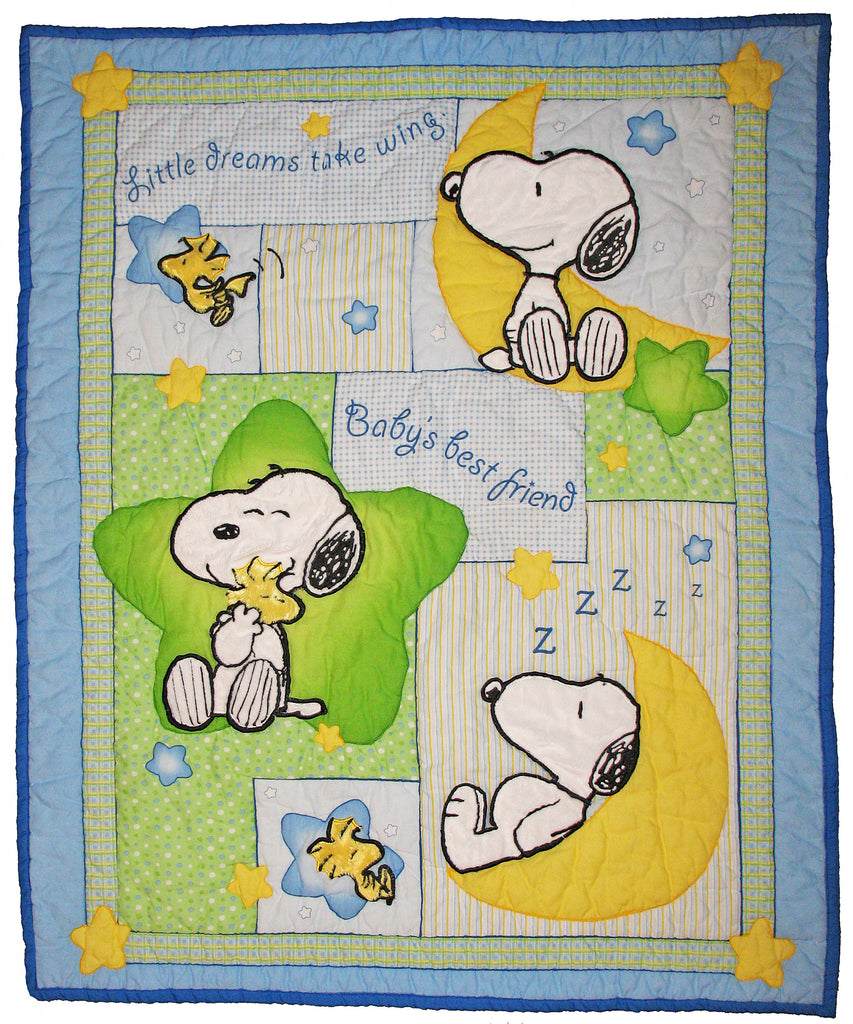 Snoopy and Woodstock Baby Dreams Quilted Comforter