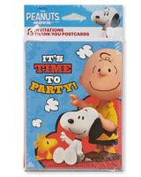 Peanuts Gang Party Invitation and Thank You Card Set