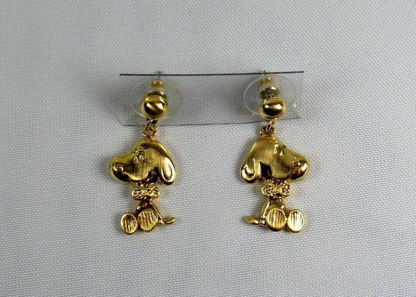 Bow Tie Snoopy Gold-Tone Earrings