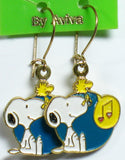 Woodstock Singing Enamel Earrings