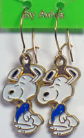 Dancing Snoopy Enamel Earrings