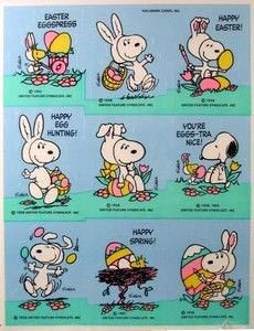 Snoopy Easter Bunny Stickers
