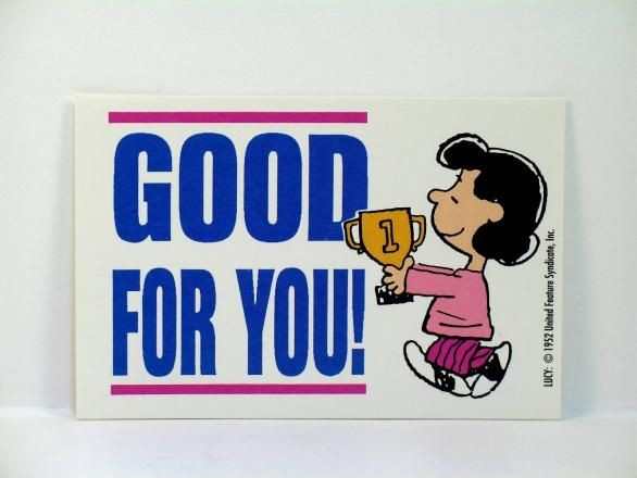 "Lucy's Mini Encouragement Card - ""Good For You!"" - REDUCED PRICE!"