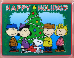 Peanuts Gang Christmas Puzzle Eraser - Happy Holidays!