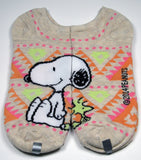 Snoopy Earth Tone Matching No Show Socks