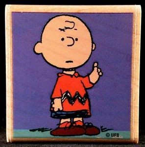 Charlie Brown RUBBER STAMP