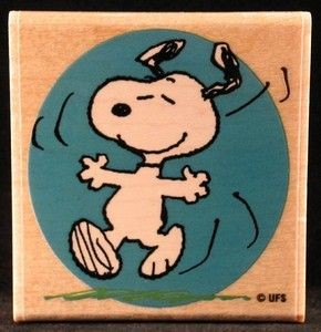 Happy Snoopy RUBBER STAMP