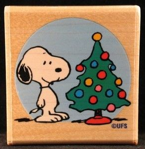 Snoopy's Tree RUBBER STAMP