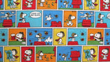 "Peanuts Fabric - Comics Panels (40"" x 44"")"