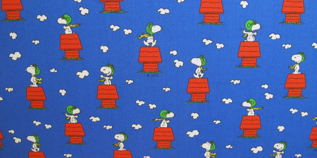 "Peanuts Fabric - Flying Ace (44"" x 60"")"