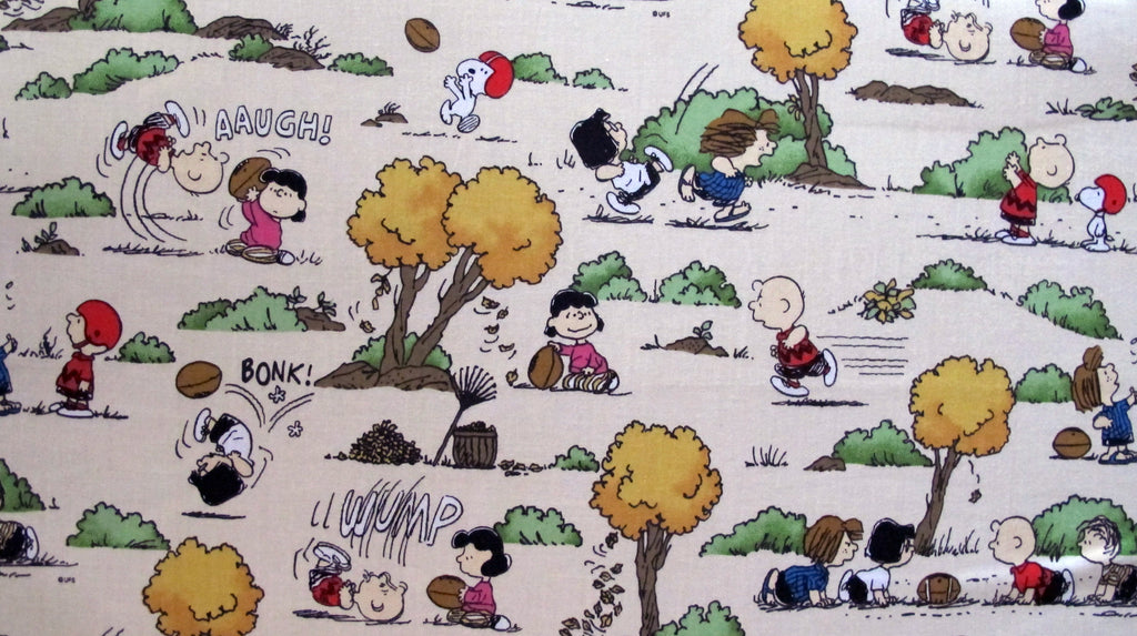 "Peanuts Fabric - Football (34"" x 44"")"