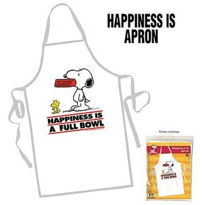 Snoopy Apron - Happiness Is A Full Bowl
