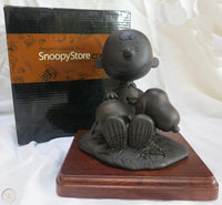 Charlie Brown and Snoopy TivoliToo Statue on Wood Base - RARE!