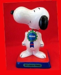 "Snoopy Hero Figurine - ""It's hero time"""