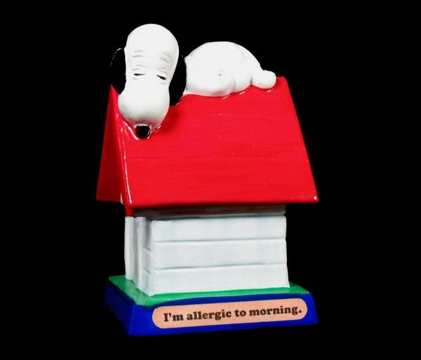 Snoopy on Doghouse Figurine