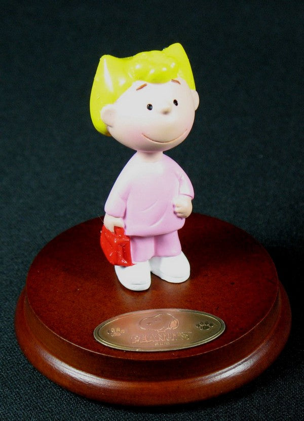 Peanuts Mini Figurine On Wood Stand - Sally