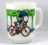 "Fire King Mug: ""Pedal Power"""