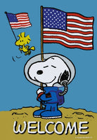 NON-VINTAGE FLAG - SNOOPY ASTRONAUT WELCOME