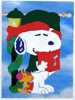 CAROLING SNOOPY CHRISTMAS Quilted Windsculpt