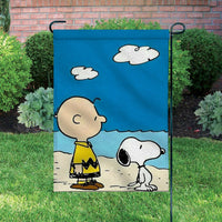 Peanuts Double-Sided Flag - Charlie Brown and Snoopy At The Beach