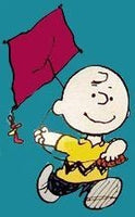 CHARLIE BROWN FLYING KITE Flag