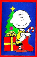CHARLIE BROWN WITH CHRISTMAS GIFTS Flag