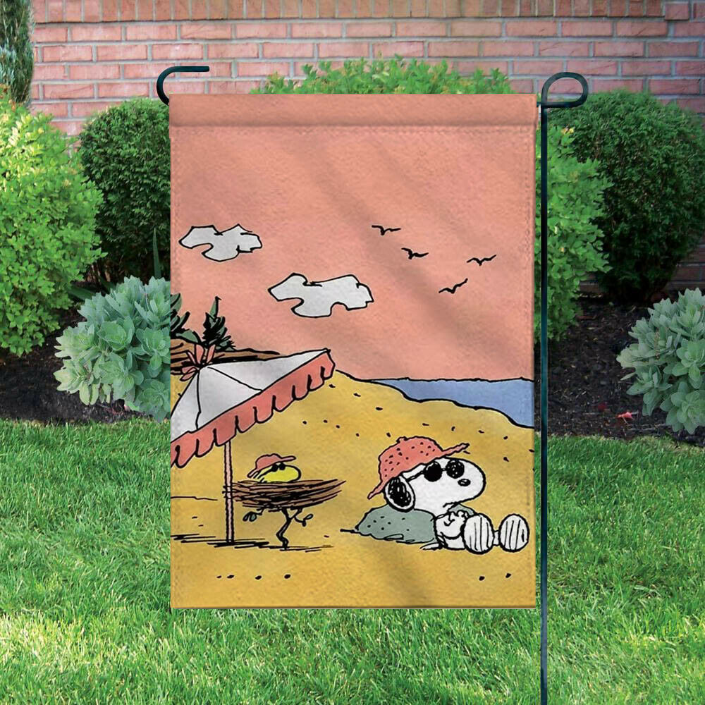 Peanuts Double-Sided Flag - Joe Cool At The Beach