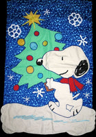 CHRISTMAS SPIRIT SNOOPY Flag