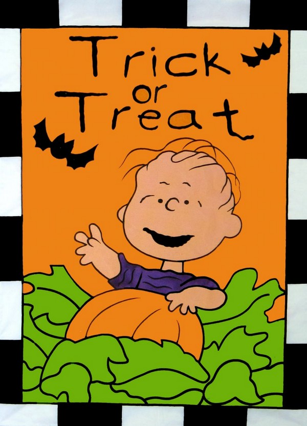 NON-VINTAGE FLAG - TRICK OR TREAT