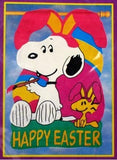 EASTER BEAGLE SNOOPY Sculpted Flag
