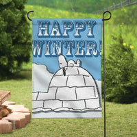 Peanuts Double-Sided Flag - Happy Winter