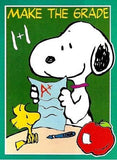 MAKE THE GRADE SNOOPY Flag