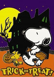 TRICK OR TREATIN' SNOOPY Flag